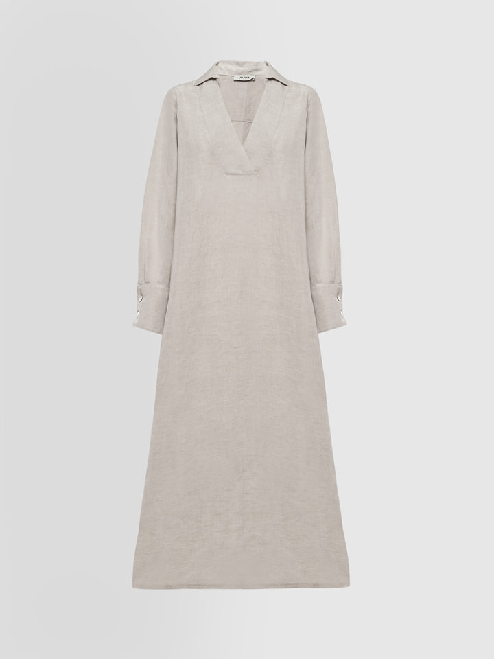 ALPHA STUDIO: GURU DRESS IN LINEN