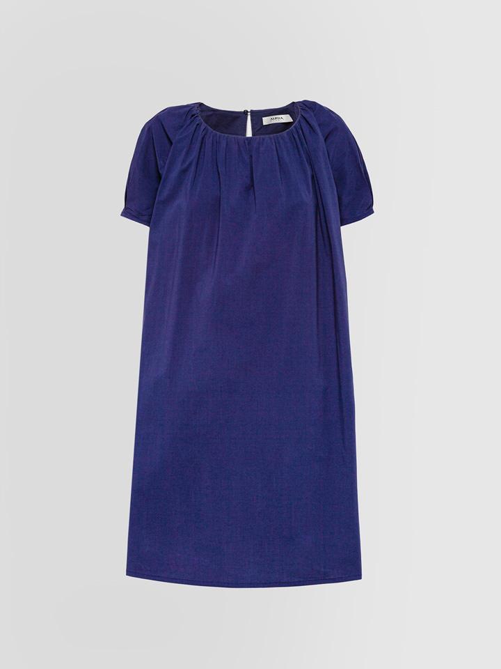 ALPHA STUDIO: KIMONO DRESS IN POPLIN