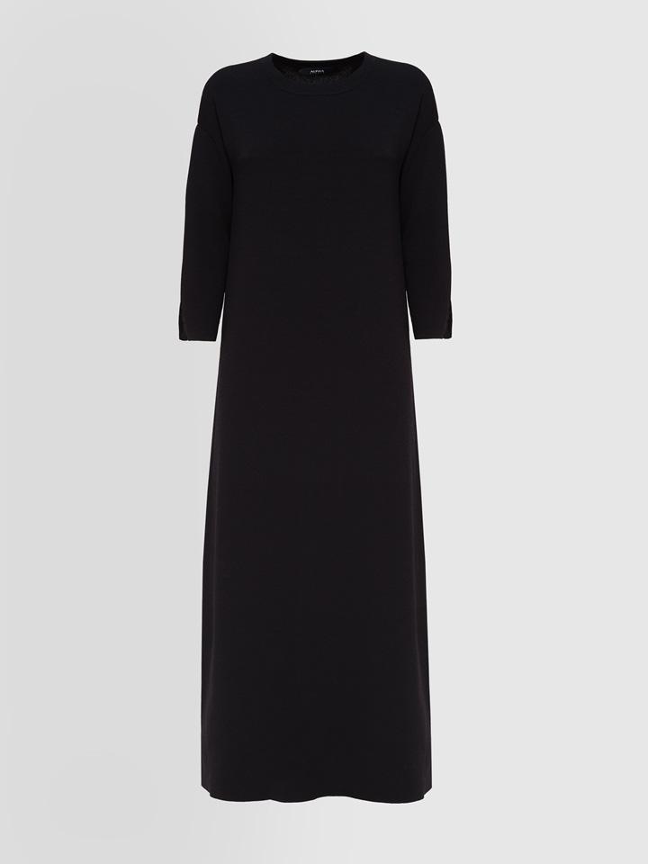 ALPHA STUDIO: LONG DRESS IN TECH YARN