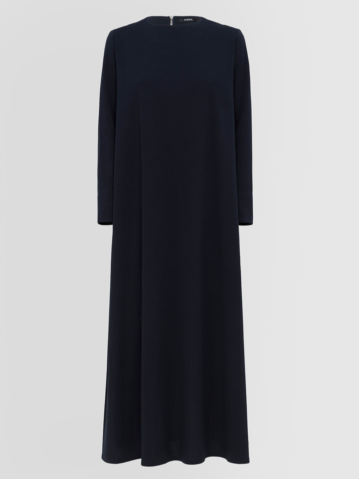 ALPHA STUDIO: LONG DRESS IN CREPON