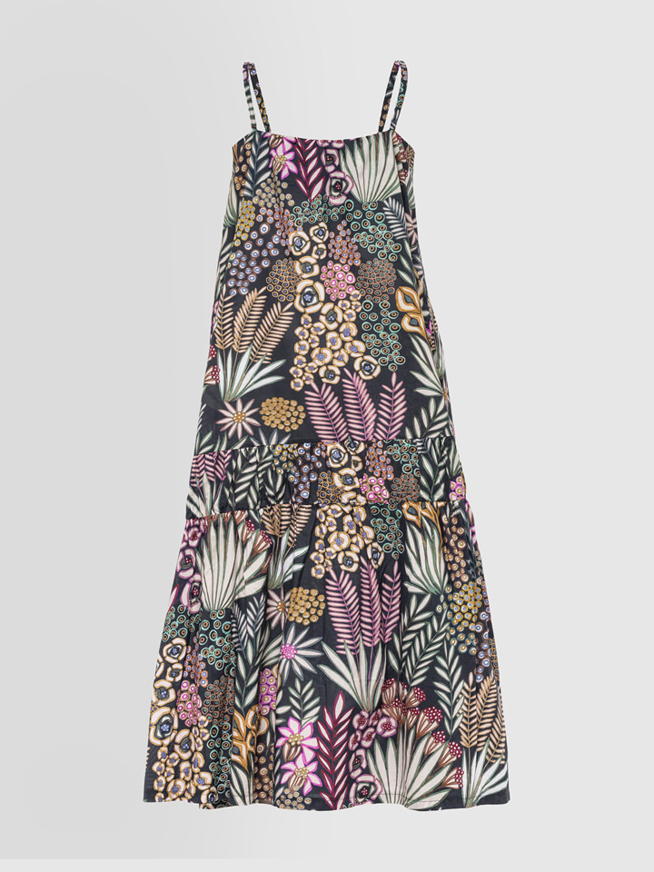 ALPHA STUDIO: NEW LIBERTY PRINT LONG DRESS