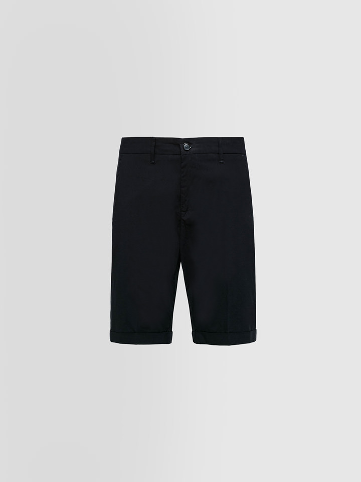 ALPHA STUDIO: BERMUDA SHORTS IN LIGHTWEIGHT COTTON