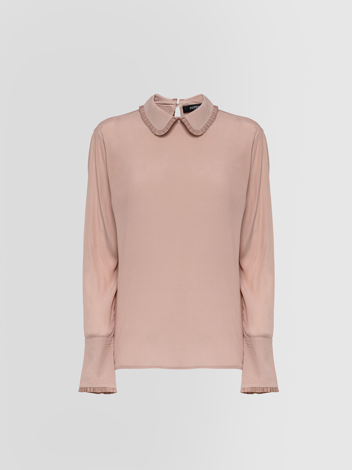 ALPHA STUDIO: CAMICIA COLLETTO CREPE DE CHINE