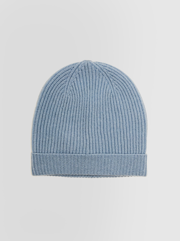 ALPHA STUDIO: HAT IN FISHERMANS RIB WOOL AND CASHMERE