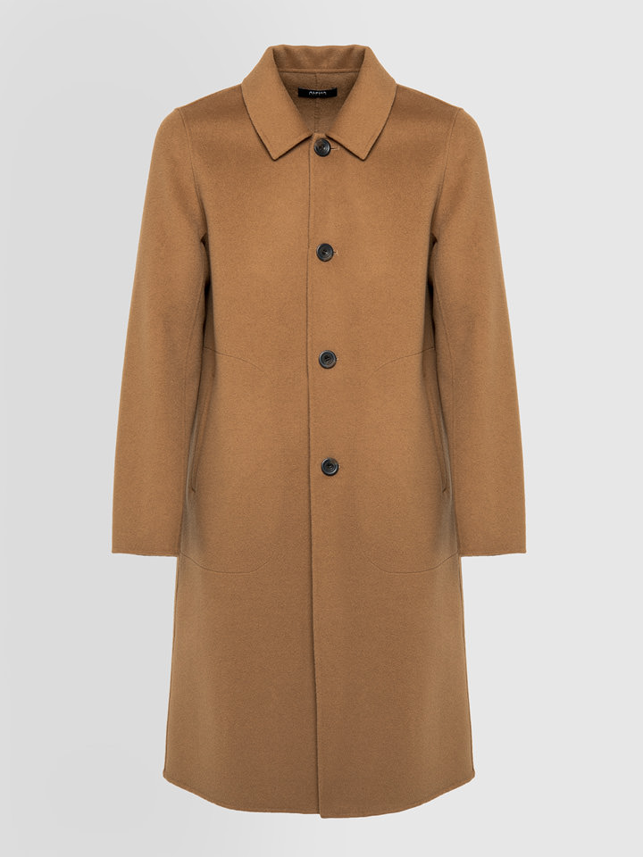 ALPHA STUDIO: DUFFLE COAT IN VIRGIN WOOL
