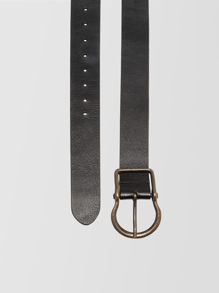 ALPHA STUDIO: HIGH WAIST BELT IN LEATHER