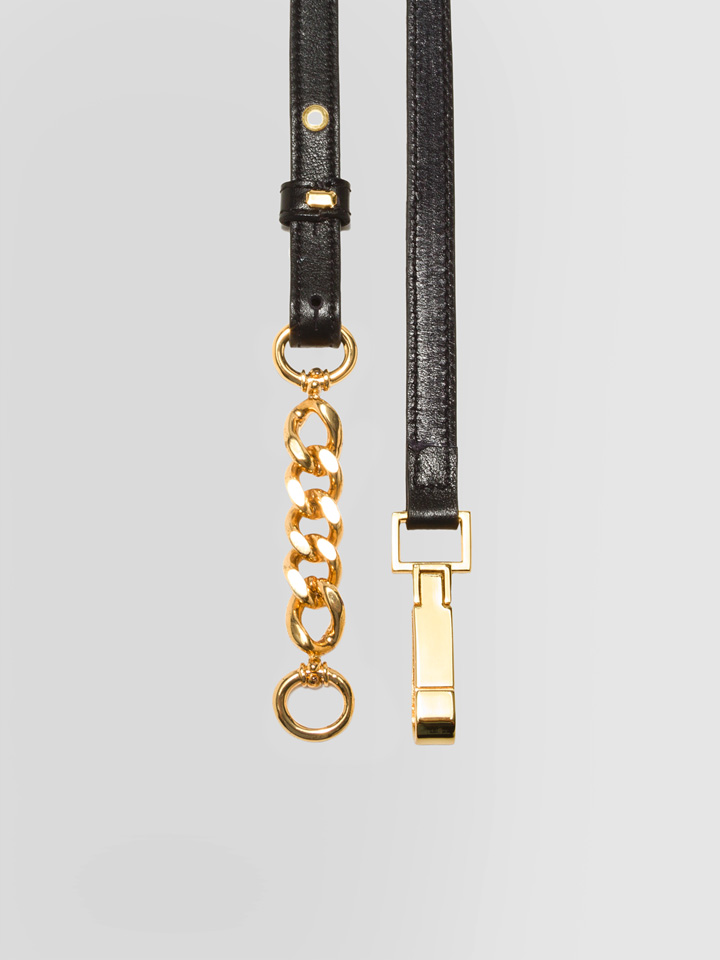 ALPHA STUDIO: CHAIN BELT IN LEATHER