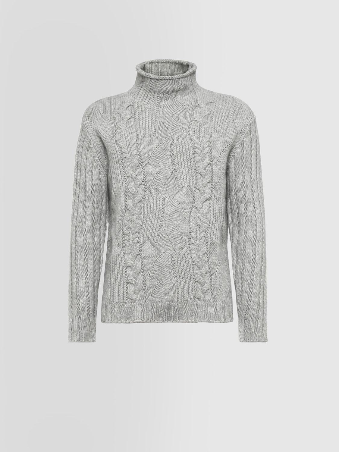 ALPHA STUDIO: SPECIAL CRATER NECK SWEATER IN CASHMERE