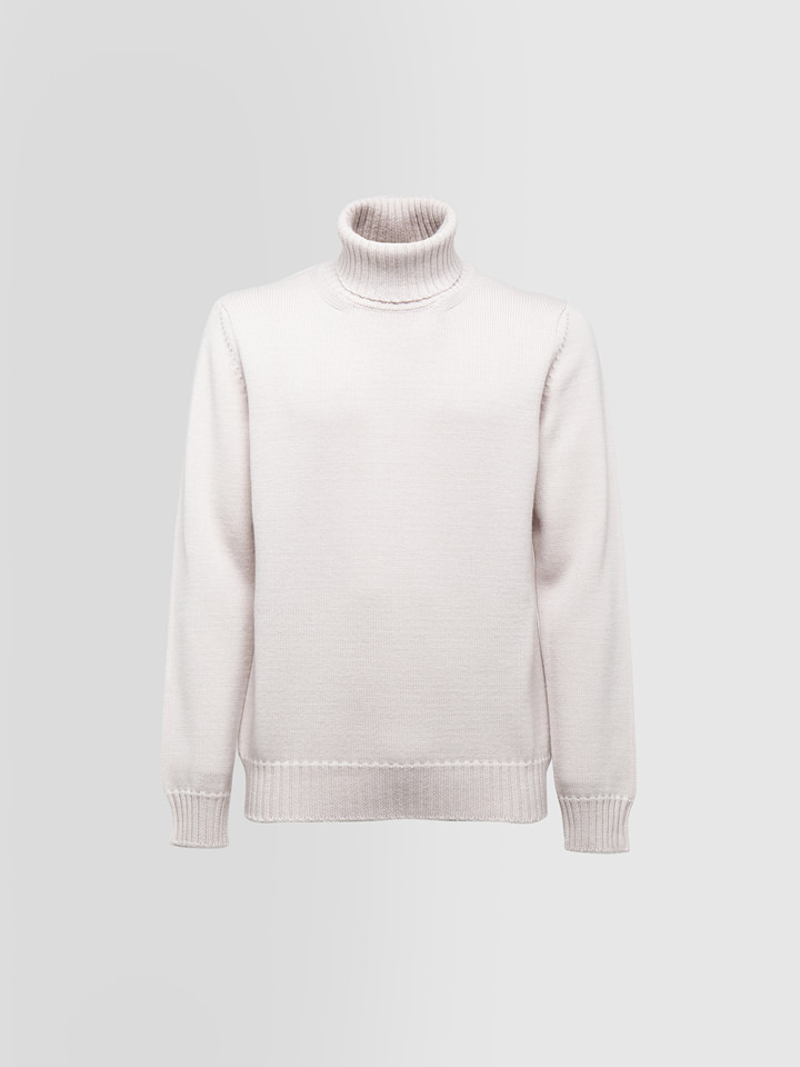 ALPHA STUDIO: TURTLE NECK SWEATER IN THICK WOOL