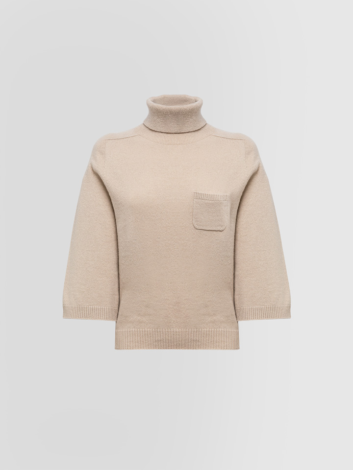 ALPHA STUDIO: LUXURY LABEL ENGLISH STYLE TURTLE NECK SWEATER
