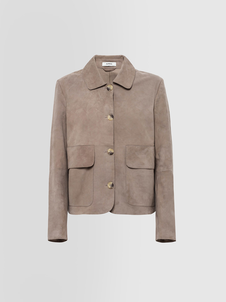 ALPHA STUDIO: SUEDE JACKET