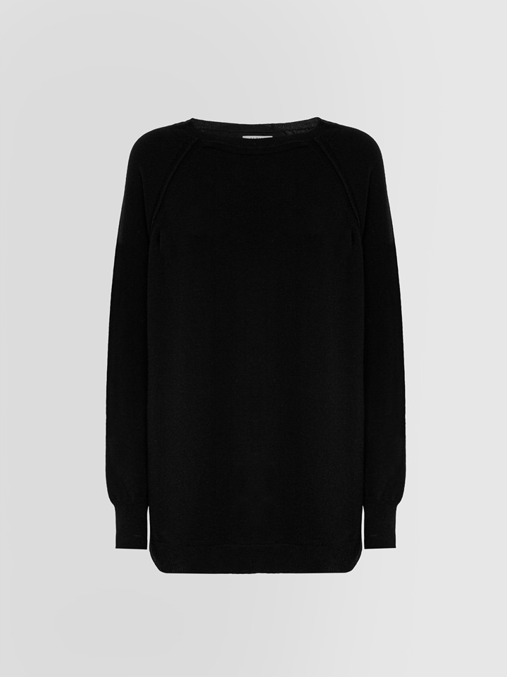 ALPHA STUDIO: LUXURY LABEL ENGLISH STYLE CREW NECK SWEATER IN CASHMERE