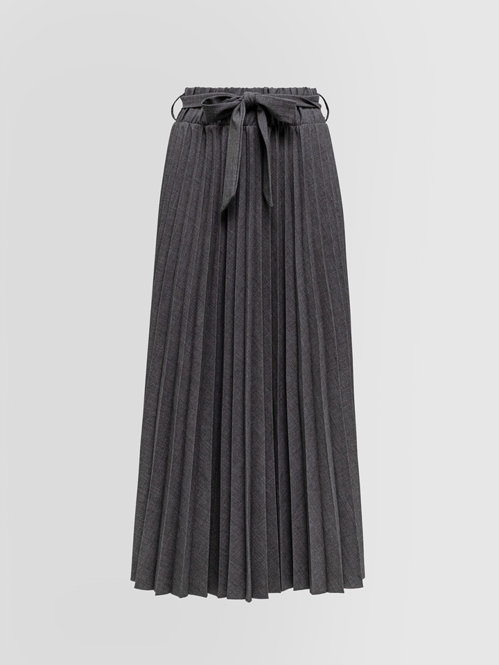 ALPHA STUDIO: PLEATED LONG SKIRT