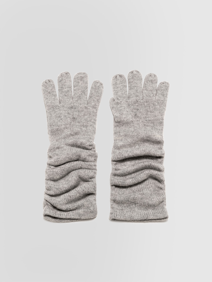 ALPHA STUDIO: LUXURY LABEL HIGH GLOVES IN CASHMERE