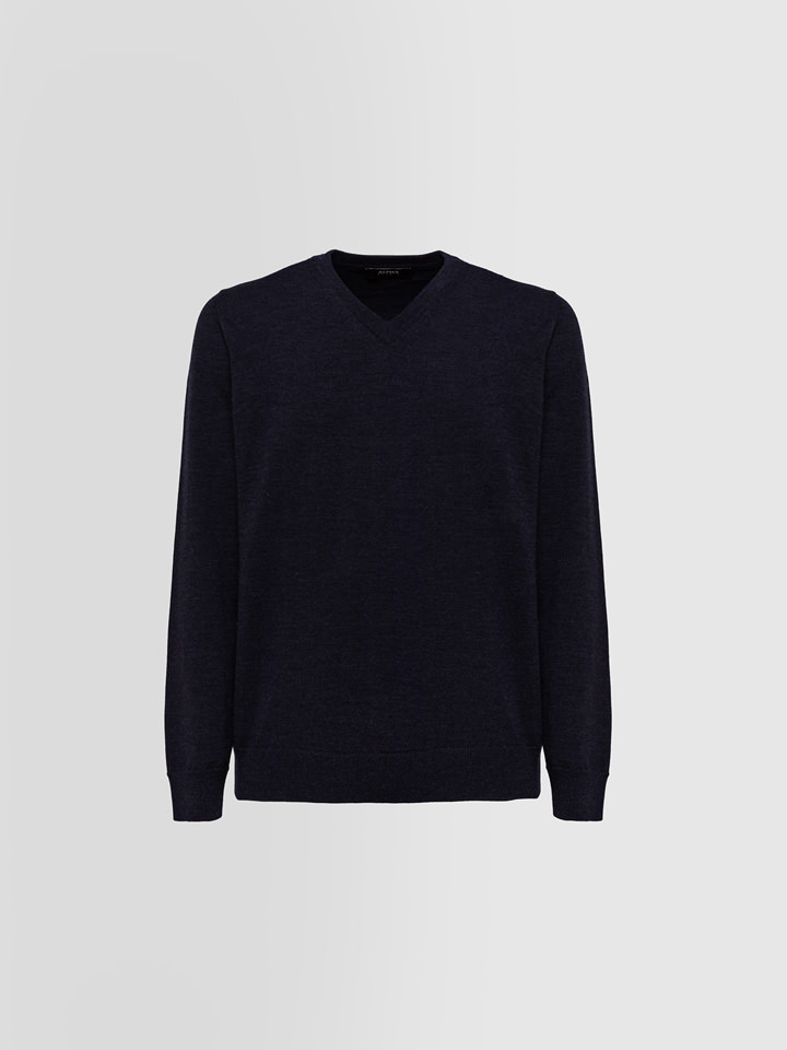 ALPHA STUDIO: BASIC SLIM SWEATER IN WOOL