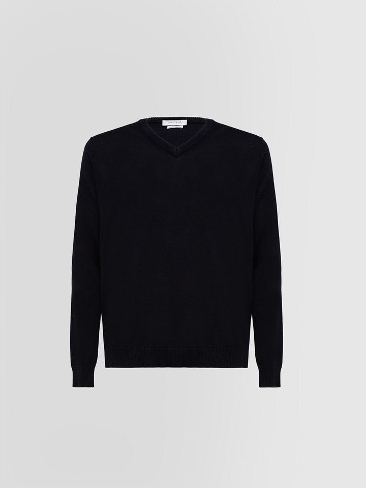 ALPHA STUDIO: LUXURY LABEL SWEATER IN SILK AND EXTRA-FINE CASHMERE