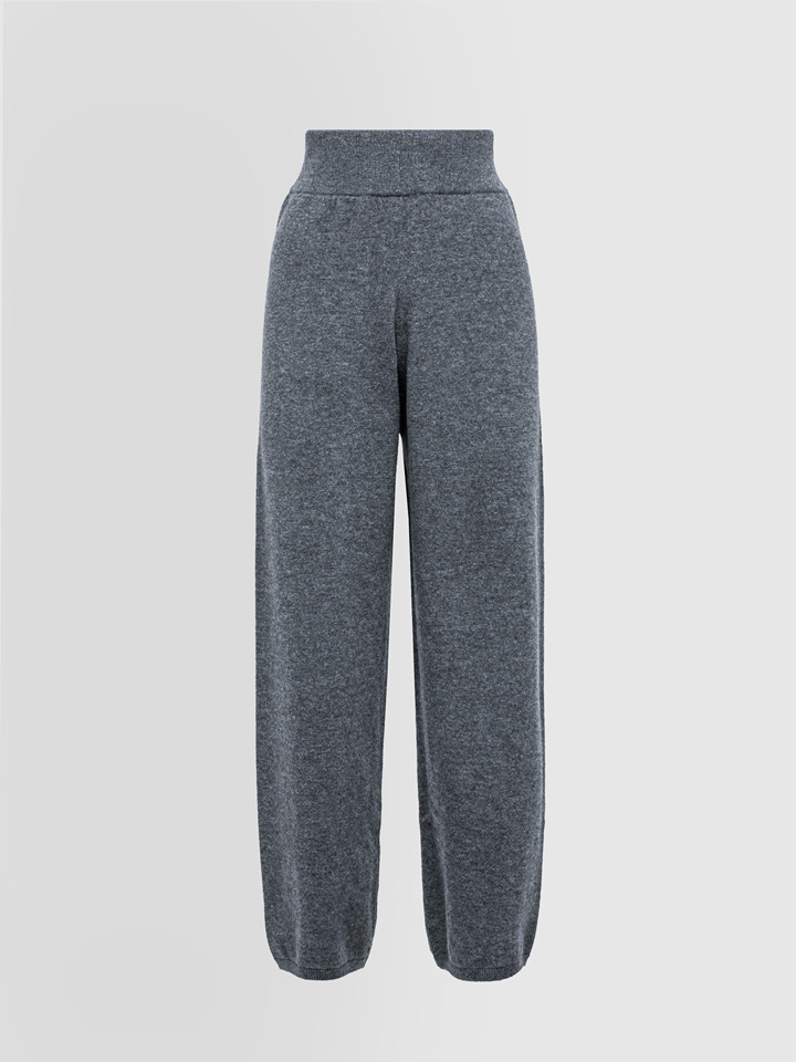 ALPHA STUDIO: COMBINED PANTS IN WOOL AND CASHMERE