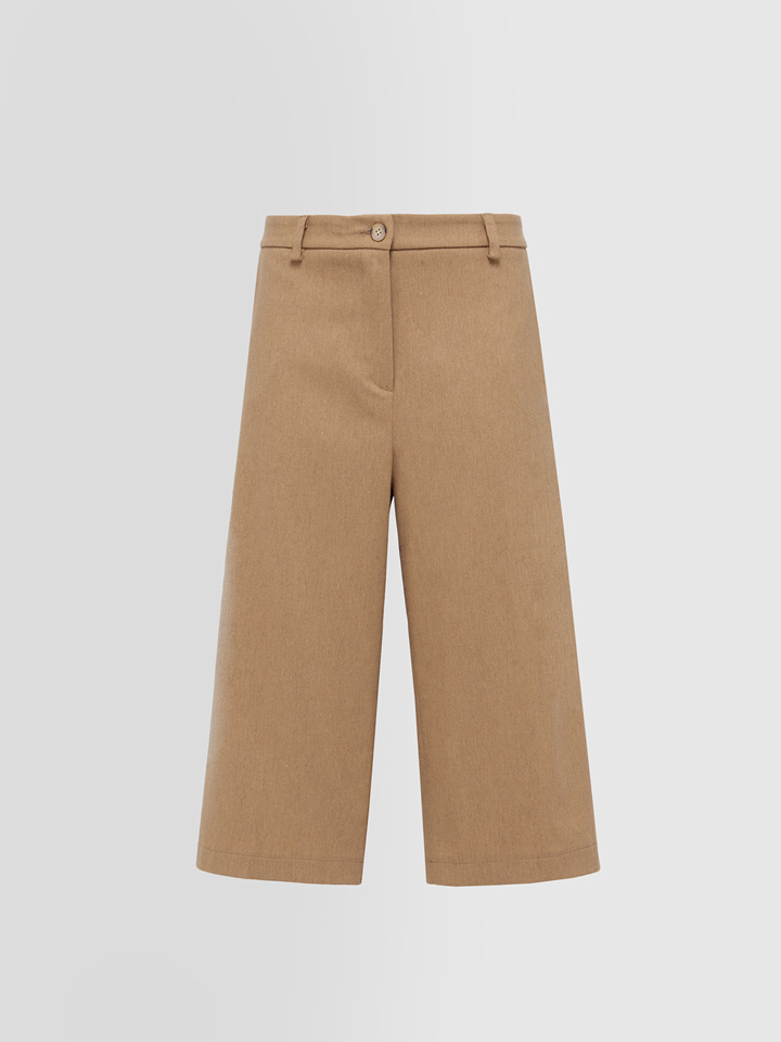 ALPHA STUDIO: CULOTTES PANTS IN FLANNEL