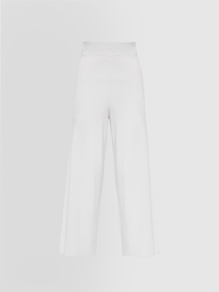 ALPHA STUDIO: STRETCH PANTS IN COLD-DYED VISCOSE