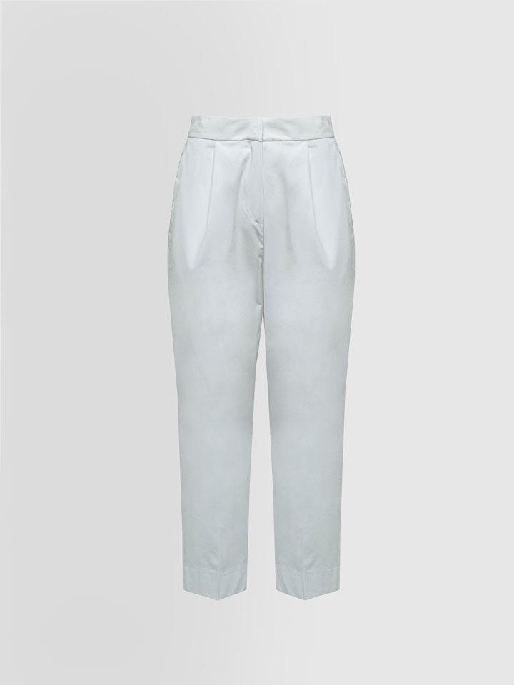 ALPHA STUDIO: MAN STYLE PANTS IN TECH COTTON