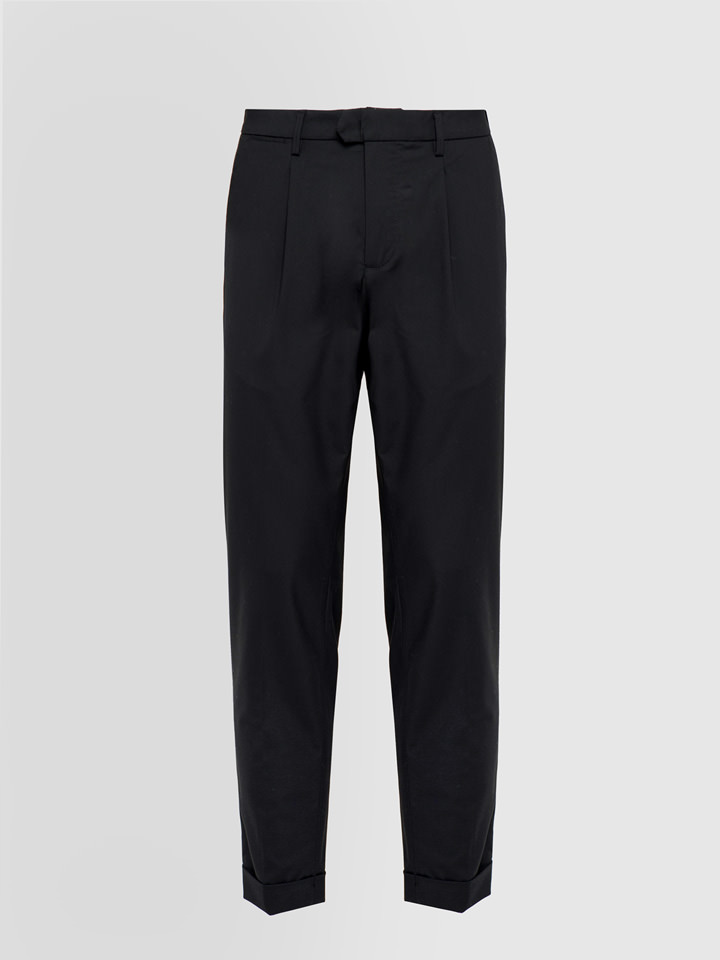 ALPHA STUDIO: TECHNO COMFORT DARTED PANTS