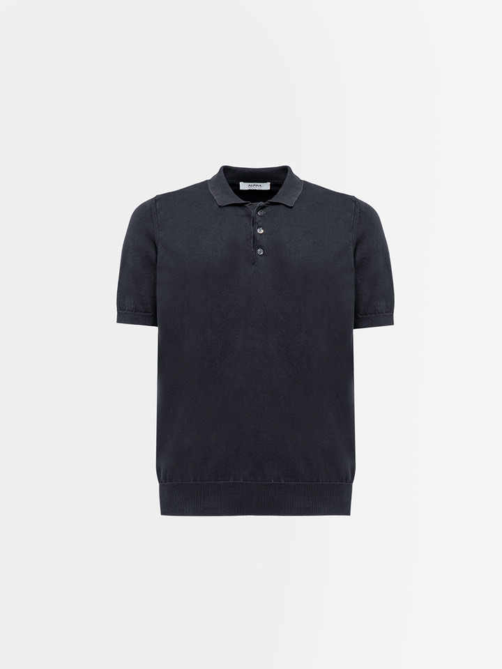 ALPHA STUDIO: POLO BASIC IN COTONE DYED