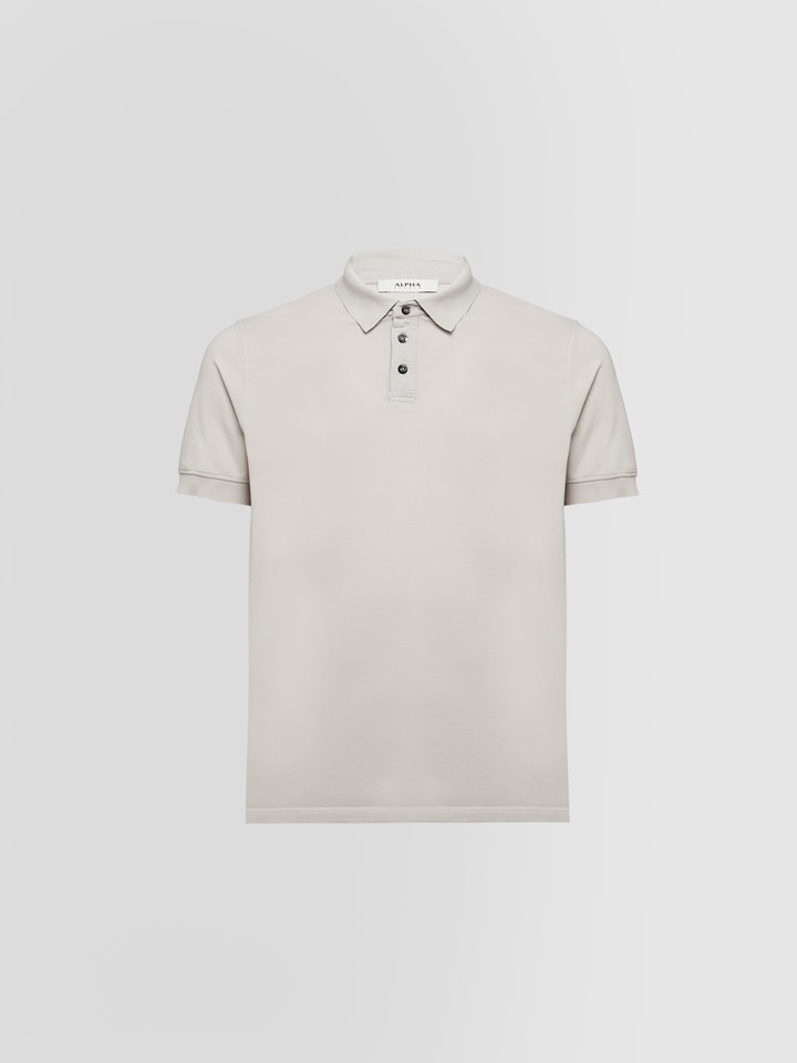 ALPHA STUDIO: ICE POLO SHIRT IN COTTON