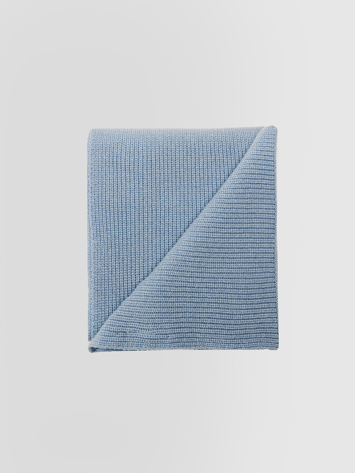 ALPHA STUDIO: SCARF IN FISHERMAN'S RIB WOOL AND CASHMERE