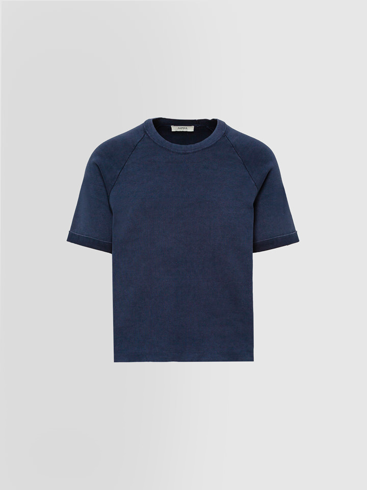 ALPHA STUDIO: BASIC T-SHIRT IN DYED COTTON