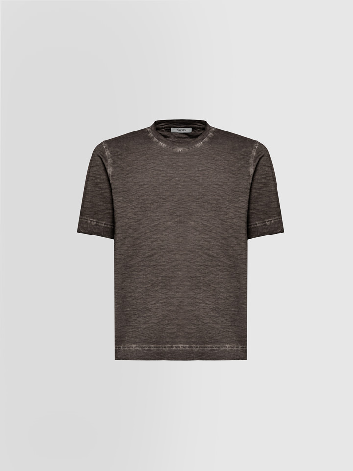 ALPHA STUDIO: SLUB T-SHIRT IN COTTON