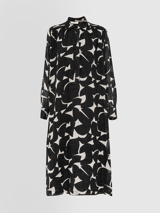 ALPHA STUDIO GEOMETRIC PRINT SHIRT DRESS