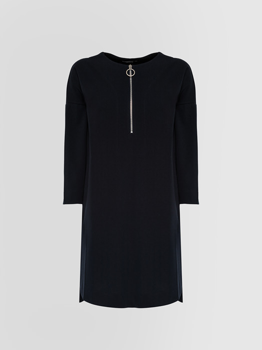 ALPHA STUDIO MINI DRESS IN CREPON