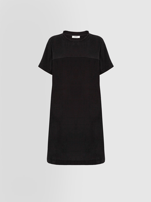 ALPHA STUDIO STRAIGHT DRESS IN JERSEY AND POPLIN