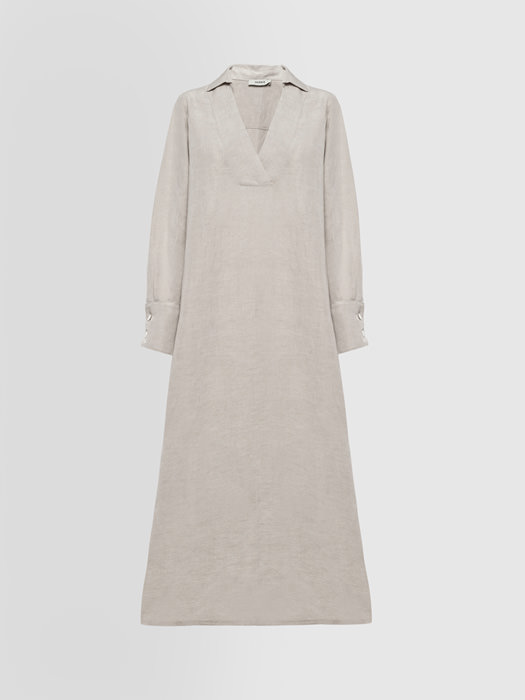 ALPHA STUDIO GURU DRESS IN LINEN