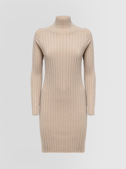 ALPHA STUDIO: LUXURY LABEL INTEGRAL DRESS IN CASHMERE