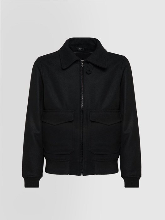 ALPHA STUDIO: BOMBER JACKET IN VIRGIN WOOL
