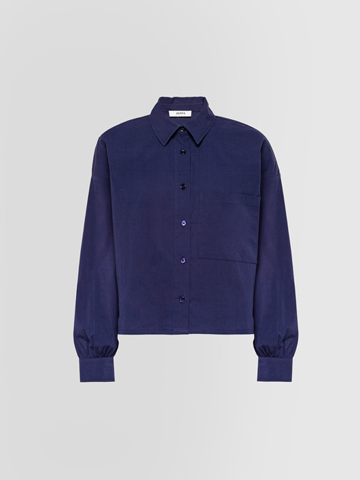ALPHA STUDIO: BOXY SHIRT IN POPLIN