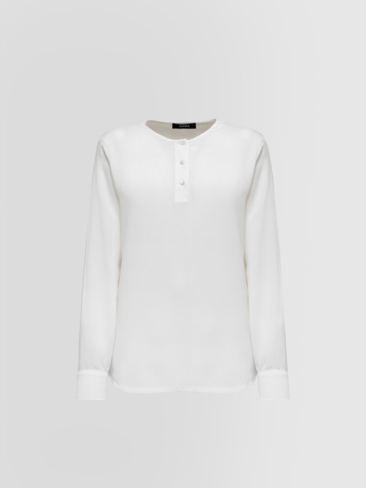 ALPHA STUDIO: CREPE DE CHINE SHIRT IN JERSEY