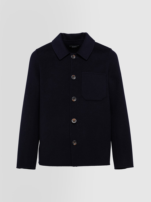 ALPHA STUDIO DOUBLE FIELD JACKET IN WOOL FELT