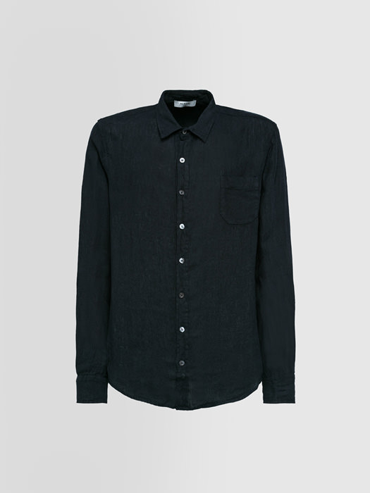 ALPHA STUDIO GURU SHIRT IN SHUTTLE-WOVEN LINEN