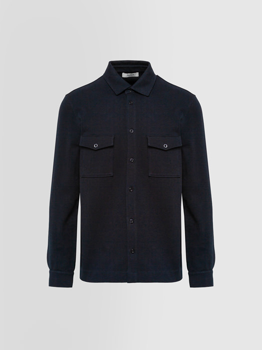 ALPHA STUDIO HEAVY SHIRT IN COTTON