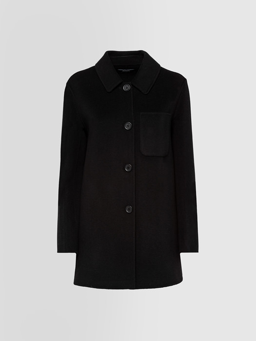 ALPHA STUDIO ESSENTIAL SHIRT COAT IN WOOL
