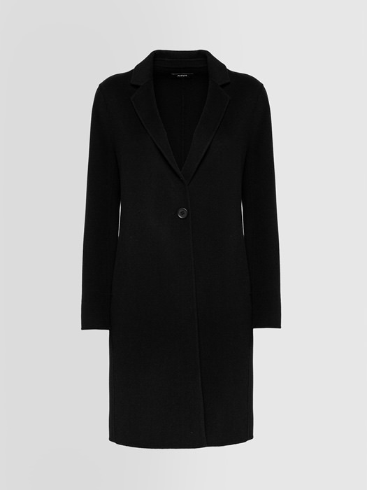ALPHA STUDIO ESSENTIAL SINGLE-BREASTED COAT