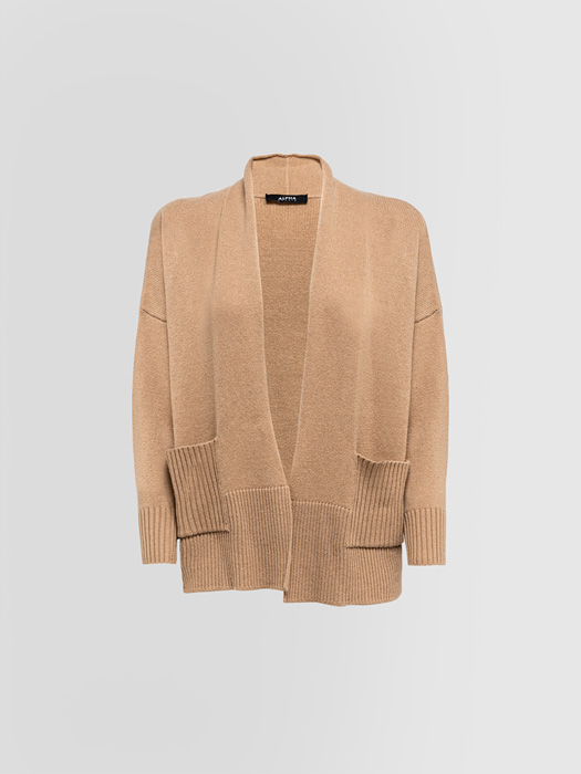ALPHA STUDIO CASUAL CHIC CARDIGAN IN MIXED WOOL