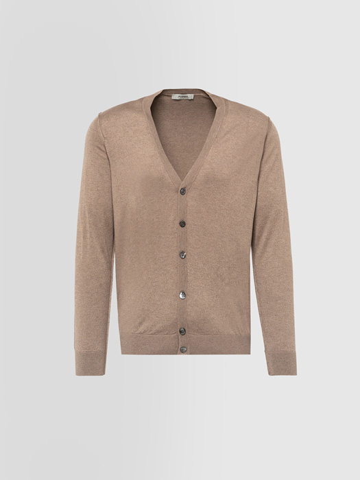 ALPHA STUDIO: CARDIGAN IN SILK AND CASHMERE