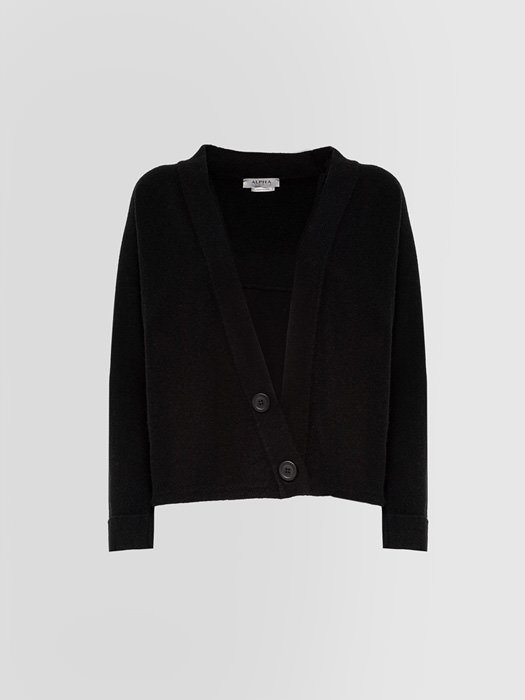 ALPHA STUDIO: LUXURY LABEL WARM SHAPES CARDIGAN
