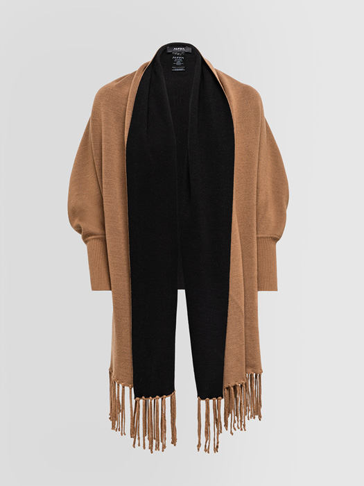 ALPHA STUDIO: TWO-TONE CARDIGAN STOLE