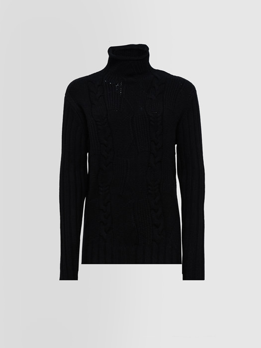 ALPHA STUDIO SPECIAL CRATER NECK SWEATER IN CASHMERE