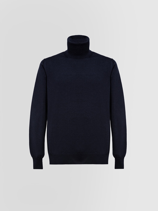 ALPHA STUDIO BASIC TURTLE NECK SWEATER IN WOOL