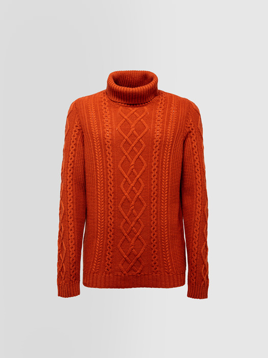 ALPHA STUDIO FISHERMAN NOBEL TURTLE NECK SWEATER IN WOOL AND CASHMERE